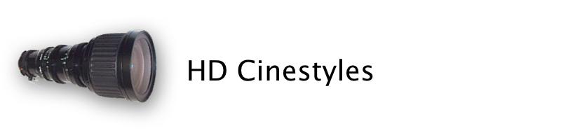 HD cinestyle lenses