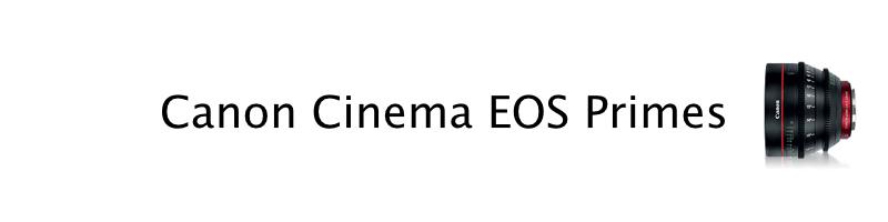 Canon EOS Cine Primes