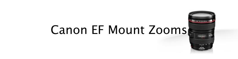 Canon DSLR EF mount zooms