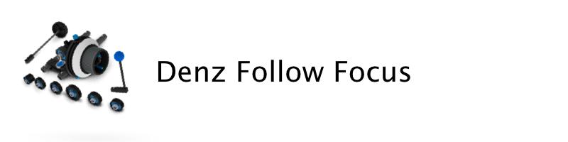 Denz lightweight follow focus