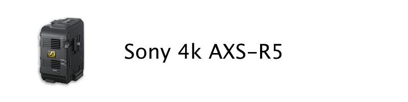 Sony 4K AXS-R5 Access Memory System recorder