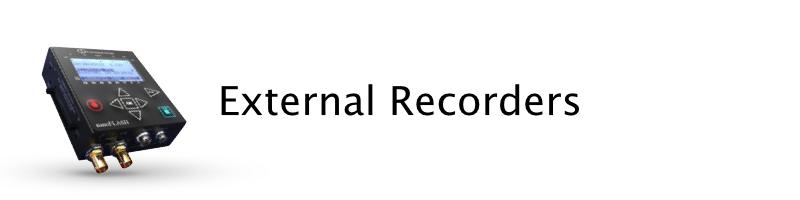 External recorders